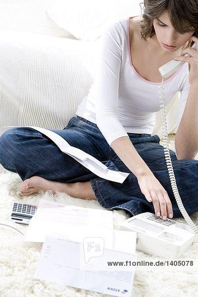 Interior zu Hause Frau tragen Business