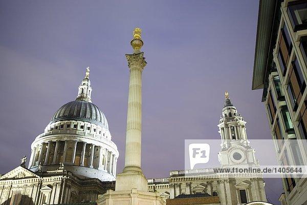 Spalte vor der Kathedrale  St. Pauls Kathedrale  London  England