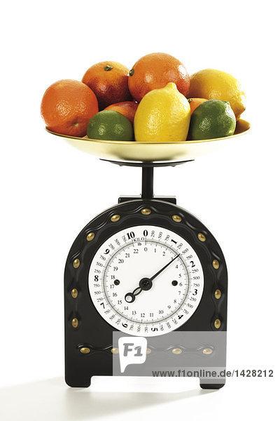 Zitrusfrüchte im Küchenmaßstab