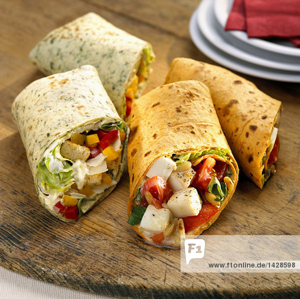Wraps  filled with vegetables