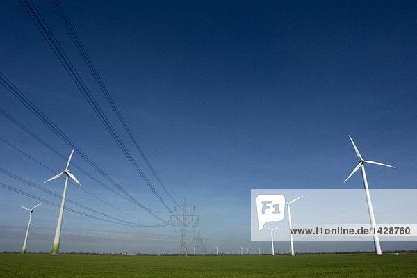Germany  Wind wheels in field