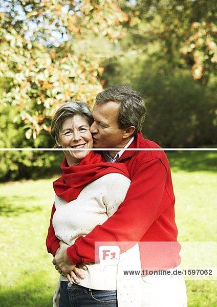 Portrait of a middle aged couple.