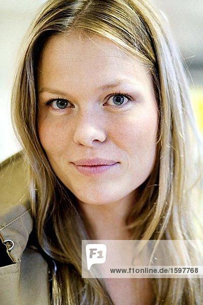 Portrait einer Frau Stockholm Schweden.