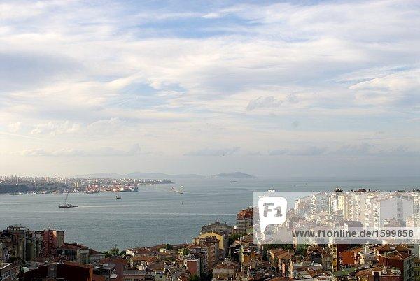 Stadt Waterfront  Bosphorus  Istanbul  Türkei