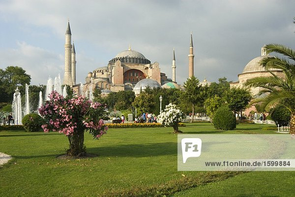 Museum in Stadt  Aya Sofya  Istanbul  Türkei
