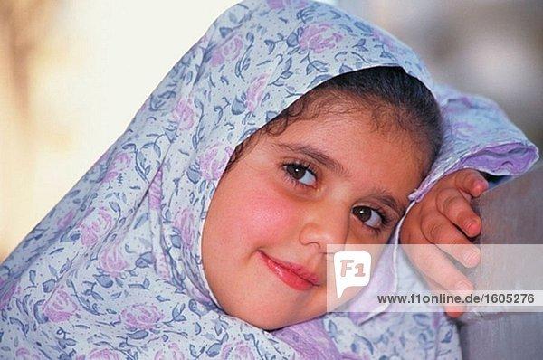 Muslim girl. Alexandria. Egypt