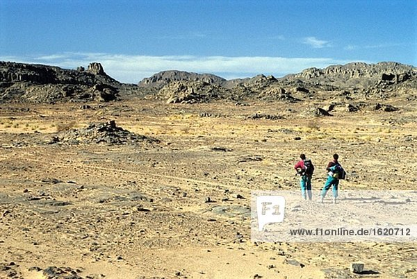 Sahara in der Nähe von Tassili