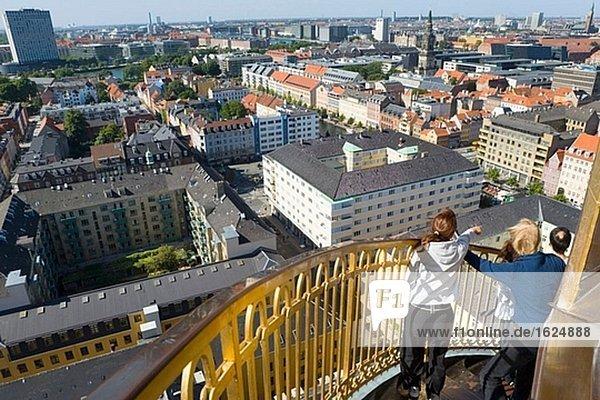 Aerial view from tower of Vor Frelsers Kirke