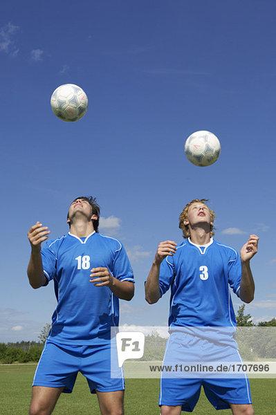 Kickers exercising