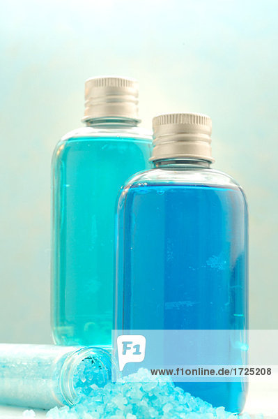 Bottles and bathing salts
