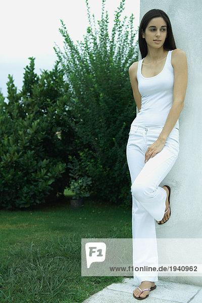 Woman standing  full length portrait