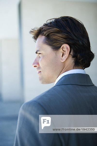 Geschäftsmann  Kopf und Schultern  Rückansicht  Portrait