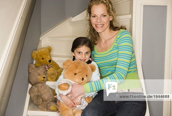 Bär Teddy Teddybär Tochter Mutter - Mensch spielen