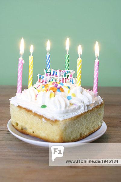 Slice der Geburtstagstorte