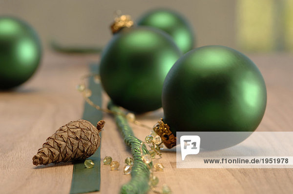Christmas decoration with christmas baubles