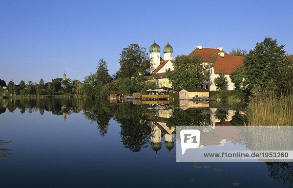 Germany  Bavaria  Upper Bavaria  Cloister Seeon at the Chiemsee