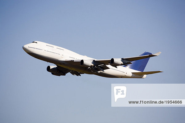 Flugzeug im Flug  Tiefblick