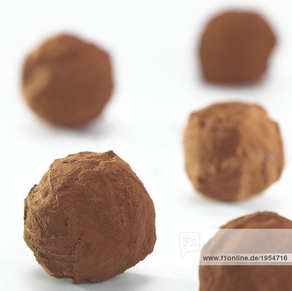 Schokoladentrüffel  Nahaufnahme
