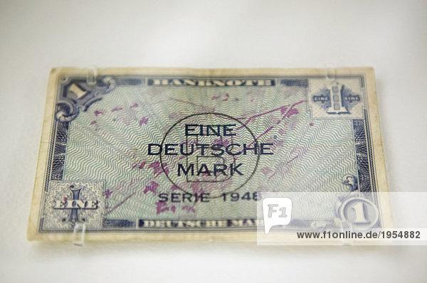 Banknote  eine Deutsche Mark  1948