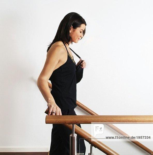 Frau auf dem Weg nach oben