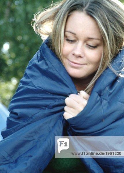 Girl in sleepingbag