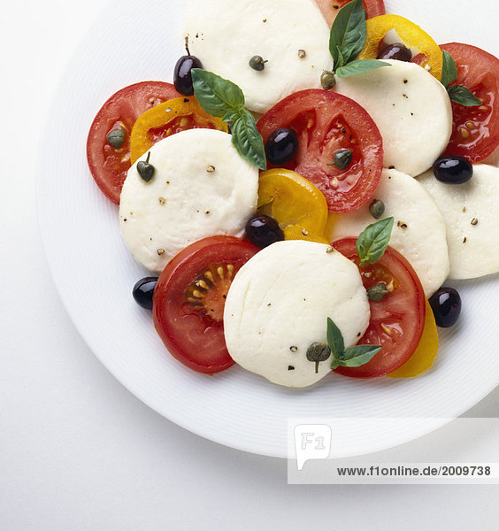 Tomaten und Mozzarella-Salat