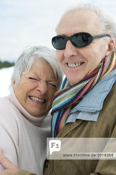Senior couple smiling together  portrait