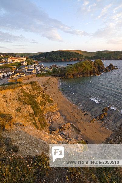 Dorf am Meer  Hope Cove  South Hams  Devon  England