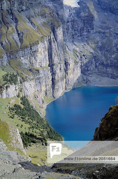 Europa See Meer Alpen Draufsicht Kanton Bern Bergsee Schweiz Europa,See,Meer,Alpen,Draufsicht,Kanton Bern,Bergsee,Schweiz