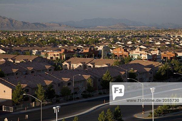 The suburbs of Las Vegas