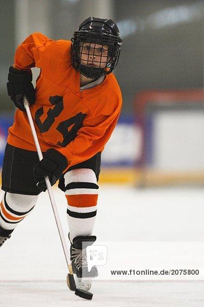 Junge Eishockeyspieler