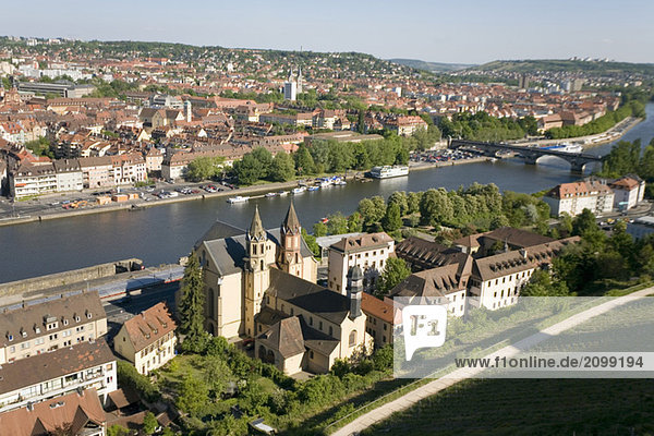 Germany  Wuerzburg  City View