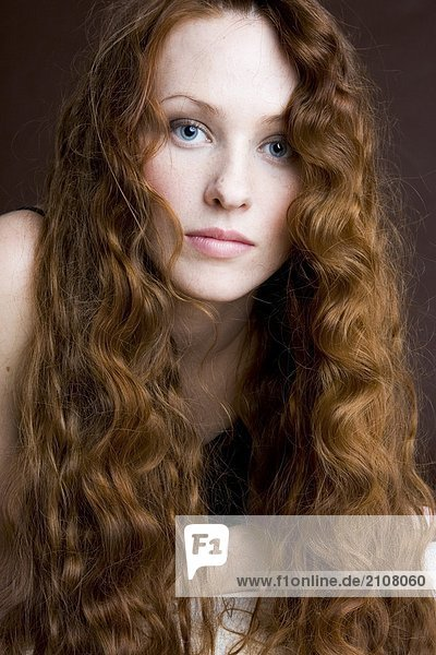 beauty readhead woman