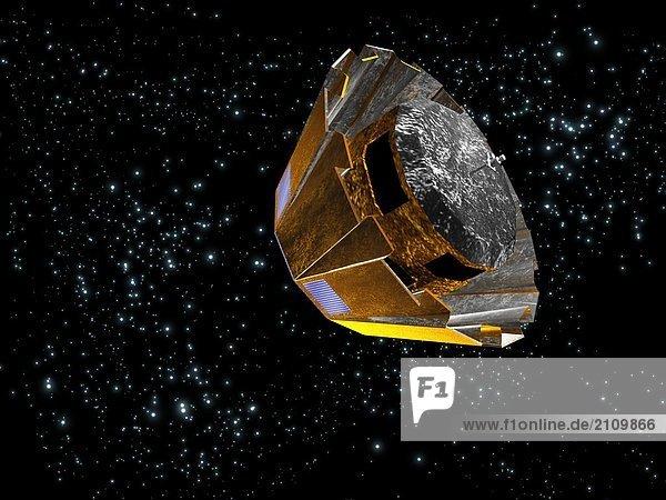 Gaia-Satelliten umkreisen im Raum
