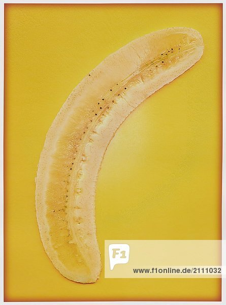 Nahaufnahme die Hälfte einer Banane