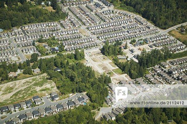 Tract Housing  Fraser Valley  Maple Ridge Area  British Columbia Canada