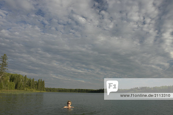 '45 year old woman swimming in Katherine Lake. No motor boats allowed.
