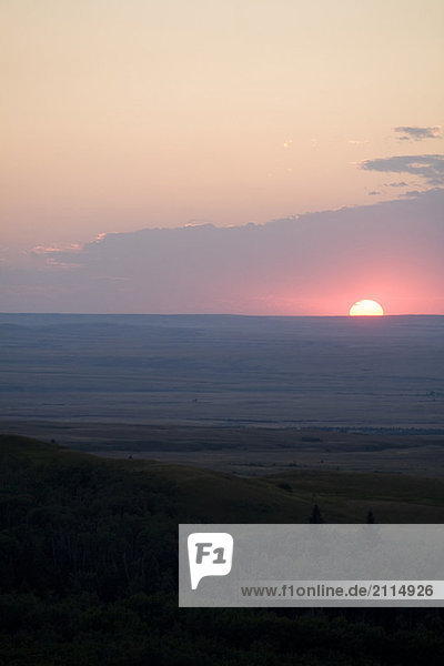 Sunset  Cypress Hills  Saskatchewan  Canada