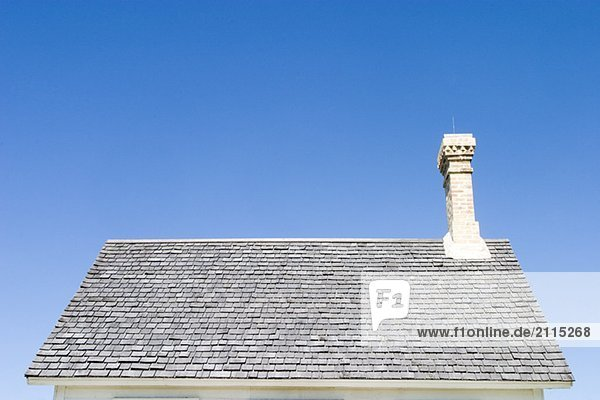 Roof of old house  Manitoba  Canada