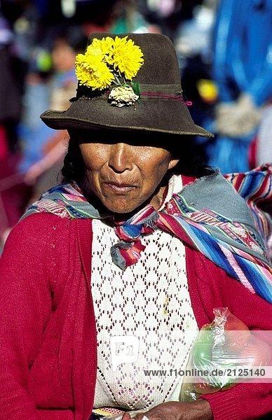 Quechua Frau. Pisac  Sacred Valley  Peru