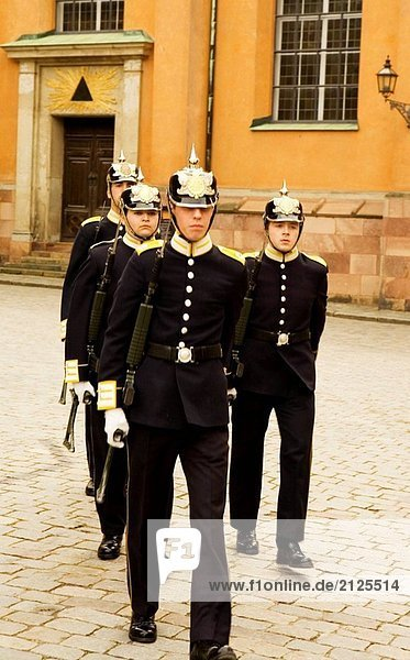 Changing of the Guards  Royal Palace  Stockholm  Sweden