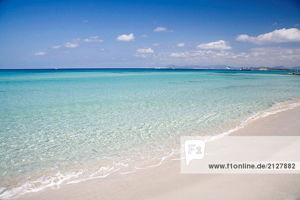 SES Illetes Strand. Formentera  Baleric Inseln. Spanien