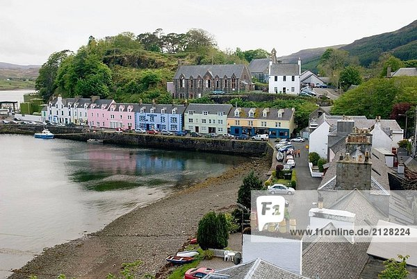 Colorful Dorf von Portee auf der schottischen Isle Of Skye