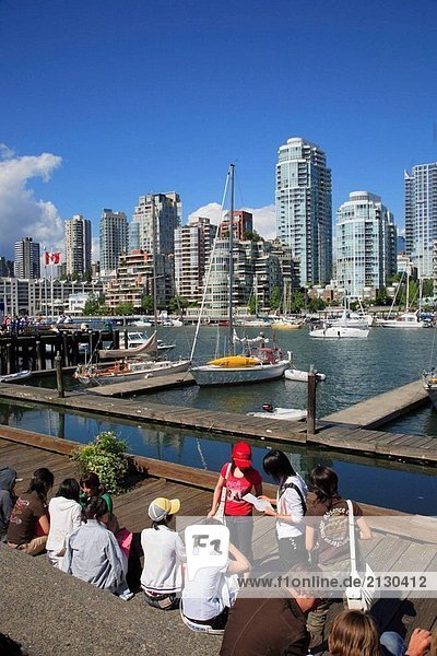 Kanada  British Columbia  Vancouver  False Creek  skyline