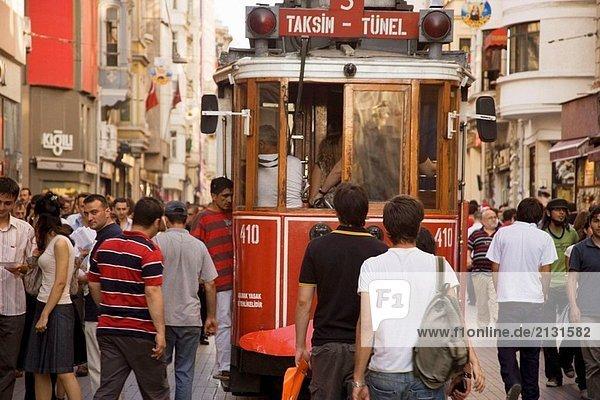 Istiklal Street  Istanbul  Türkei