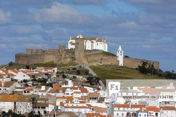 Castle and town  Arraiolos  Alentejo  Portugal