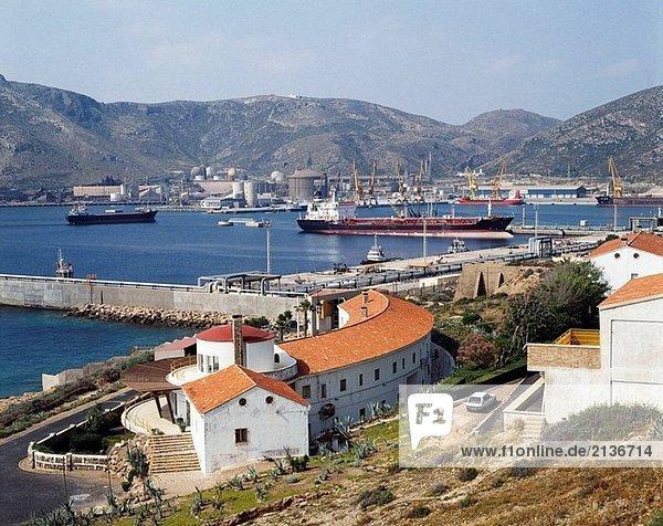 Port  Escombreras. Murcia  Spanien
