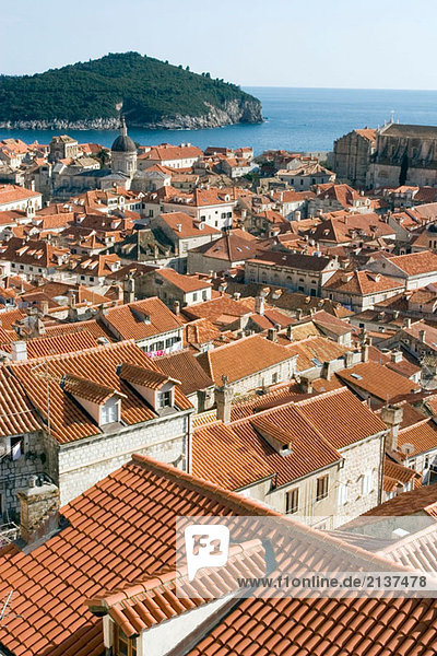 View of Dubrovnik (Croatia) from the city walls