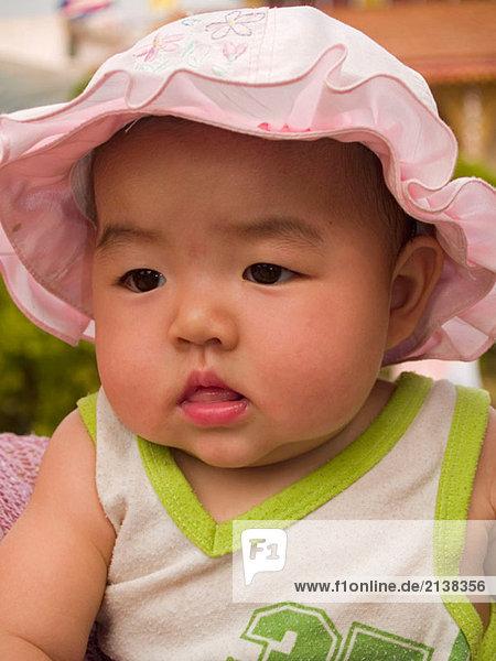 Baby making sense of the world  Mae Hong Son  Thailand