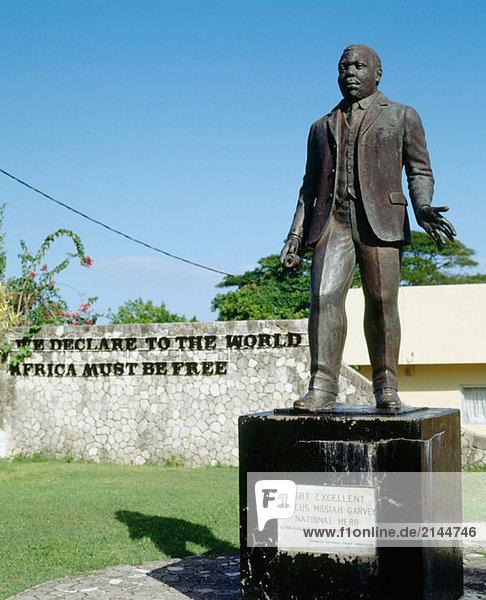 Marcus Garvey (1887 – 1940)  schwarzen-Führer  die erste wichtige amerikanische schwarze nationalistische Bewegung organisiert. Saint Ann´s Bay. Jamaika